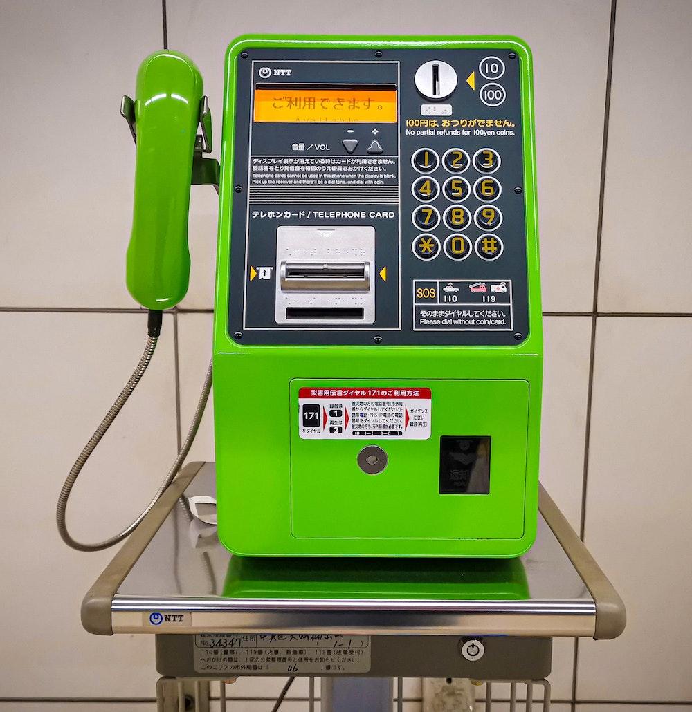 Telefon grün Japan